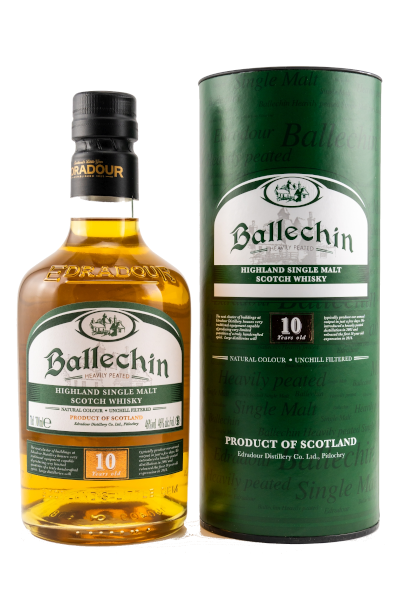 Ballechin 10y heavily peated 46% Alc Vol 0,7l