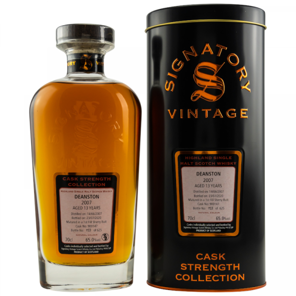 Deanston 13y 2007-2020 65% Alc 0,7l Cask Strength Collection Signatory